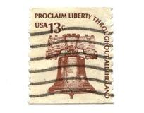13 gammala portostämplar USA för cents Royaltyfri Foto