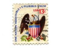 13 gammala portostämplar USA för cents Fotografering för Bildbyråer