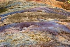13 gekleurde aarde bij La Vallee des Couleurs Royalty-vrije Stock Foto's