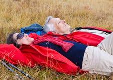 13 hiking старшия Стоковая Фотография