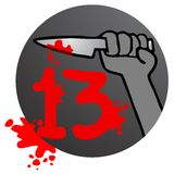 13 horror. Creative design of 13 horror stock illustration