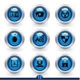 13 ikony ochrony serii ilustracja wektor