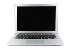 13-inch MacBook Air. In isolated white background Stock Photography