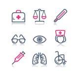 13 koloru konturowa ikon sieć Obrazy Stock