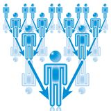 13. Meneur d'équipe dans le bleu. Photos libres de droits