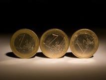 13 mynt Fotografering för Bildbyråer