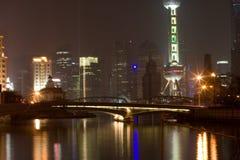 13 natt shanghai Arkivfoton