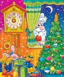 13 nya år stock illustrationer