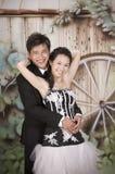 13 para niedawno poślubia Fotografia Stock