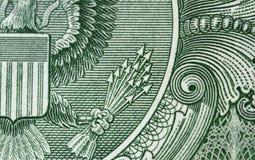 13 Pfeile von einem Dollarschein Lizenzfreie Stockfotos