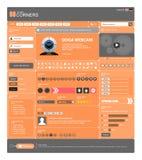13 projektów pomarańczowa szablonu tematu wektoru sieć Fotografia Stock