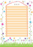 13 To Do List Space_eps. Illustration of 13 to do list space with your sample text. Make with ice cream stick and thread Stock Photos