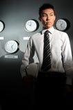 130企业时钟办公室 免版税库存图片