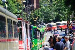 130th周年纪念波兰公共交通工具 库存图片