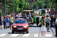 130th общественный местный транспорт годовщины Стоковые Изображения RF