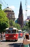 130th общественный местный транспорт годовщины Стоковое Изображение RF