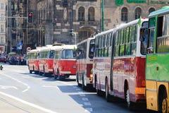 130th anniversaire de transport en commun en Pologne Image libre de droits