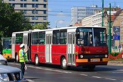 130th anniversaire de transport en commun en Pologne Photo stock