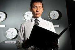 131企业时钟办公室 免版税库存图片