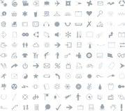 132 ícones para a aplicação web ilustração royalty free