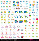 132 2d designelement för abstrakt begrepp 3d Arkivbild