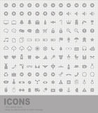 132 Icons Royalty Free Stock Photography