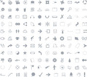 132 Icons for web application royalty free illustration