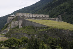 1339 1829年exilles堡垒 库存图片