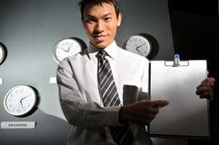134企业时钟办公室 库存照片
