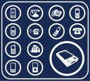 134 τηλέφωνα δ κουμπιών που τί& διανυσματική απεικόνιση