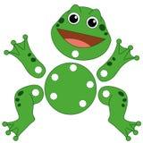 135 żaby rżniętym grze byli rżnięty Zdjęcia Stock