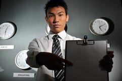 135 biznesów zegarowy biuro Zdjęcia Stock