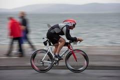 1353年corey骑自行车者dawson摇摄技术 库存图片