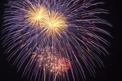 136 fireworks Στοκ Φωτογραφίες