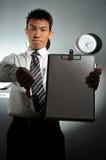 137企业时钟办公室 免版税图库摄影