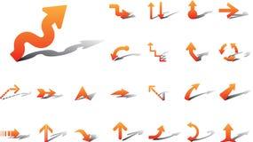 13a箭头大图标设置了 免版税库存图片