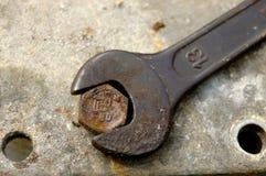 13mm skiftnyckel Fotografering för Bildbyråer