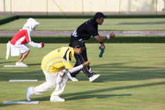 13th Asia Pacific Bowls Championship 2009. Image of lawn bowl players from different countries competing at the 13th Asia Pacific Bowls Championship 2009, held Stock Photography