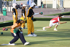 13th Asia Pacific Bowls Championship 2009. Image of lawn bowl players from different countries competing at the 13th Asia Pacific Bowls Championship 2009, held Stock Photo