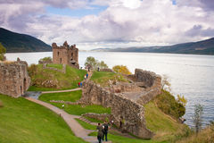 13th Century Urquhart Castle Stock Photo