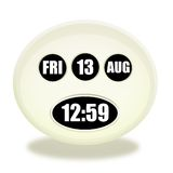 13th Friday on August. Clock design royalty free illustration