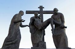 Free 13th Stations Of The Cross, Jesus` Body Is Removed From The Cross , Basilica Of Assumption In Marija Bistrica, Croatia Stock Image - 190657521