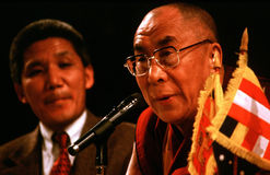 14ème Dalai Lama du Thibet Photos libres de droits