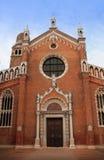 14世纪教会小山谷madonna orto 库存照片