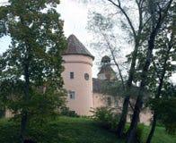 14世纪Edole Kurzeme拉脱维亚欧罗巴城堡  库存照片