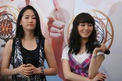 14个女孩新加坡奇迹 免版税图库摄影