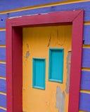 14个房子紫色 库存照片