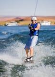 14个湖wakeboarding人的powell 图库摄影