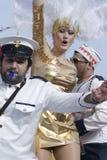14个狂欢节塞浦路斯2月利马索尔游行 免版税库存照片