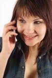 14个电话妇女 免版税图库摄影